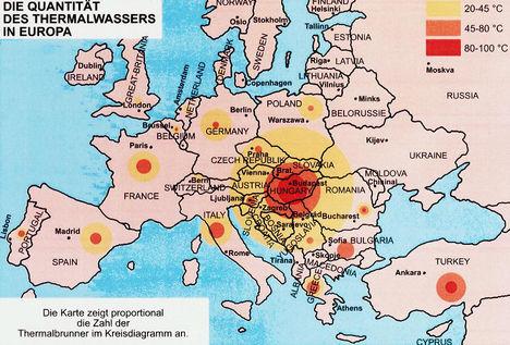 Termálvizek Európában