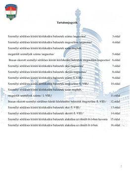 Baleseti-statisztika - 2013. augusztus 2