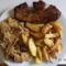 Otthon 2013. Pörkölt savanyú káposzta sülthús sült krumpli.
