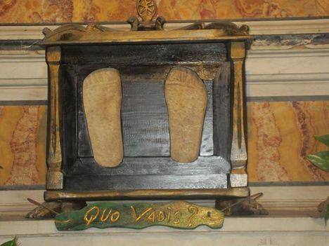 Basilica di San Sebastiano fuori le mura _ Jézus eredeti lábnyoma