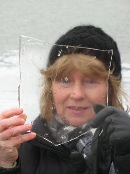 A jég Balmádinál - nem ezen csúszkáltunk :-)
