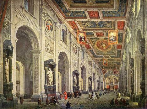 G_P_Pannini - Interior_of_the_San_Giovanni_in_Laterano