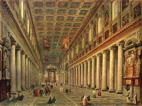 G_P_Pannini - Interior_of_the_Santa_Maria_Maggiore