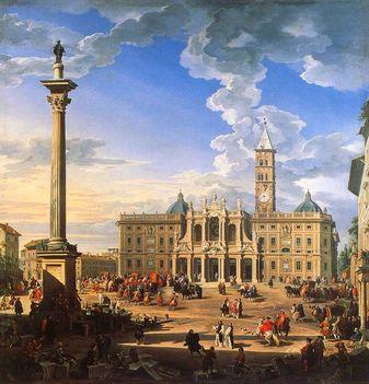 G_P_Pannini - The_piazza_and_church_of_Santa_Maria_Maggiore