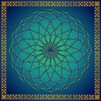 Kék mandala