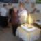 Óriás torta az 5 éves Újpesti zenebarátkör ünnepén. 2013.szept.3