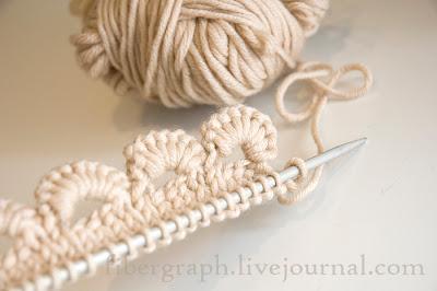 Kötés horgolás  kötött vagy horgolt szegély  9 (kép) fc9cd0daff