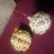 gömbök arany-fehér  spirál minta 1
