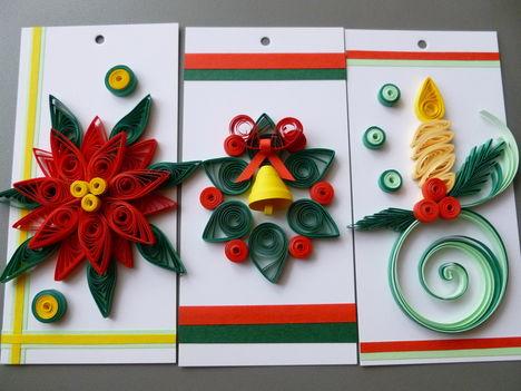 karácsonyi ajándékkísérő kártyák
