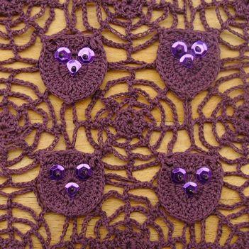 Kézimunkasuli - pókhálós - baglyos horgolt minta