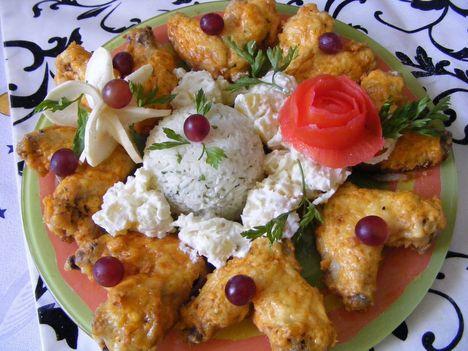 Tejfölös -sült csirkeszárny