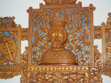 Szent László hermája a sziklakápolnában
