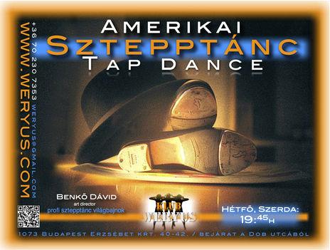Amerikai Sztepptánc Tánc - Tap dance - Klub Weryus