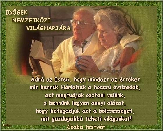 idősek világnapjára versek idézetek Vers: Idősek Világnapja  (kép)