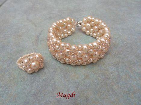 Seherezádé karkötő + gyűrű