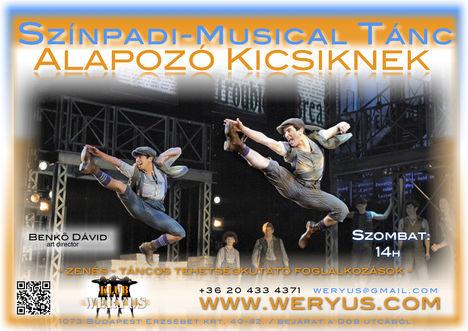 Színpadi - Musical Tánc alapozó kicsiknek - Weryus Musical Studio
