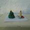 quilling-karácsonyfa és gyertya mini 3D-s