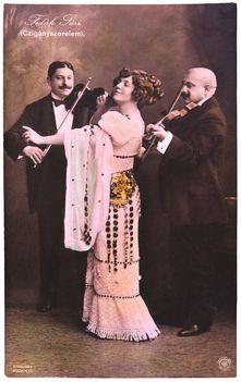 Sterelisky_Fedák_Sári_mint_Ilona_és_a_cigányok_1910
