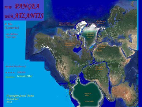 A Pangea műholdképes rekonstrukciója torzítás nélkül 1