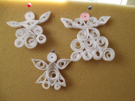 quilling-karácsonyi angyalkák