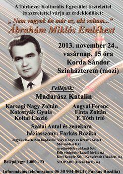 Ábrahám Miklós Emlékest