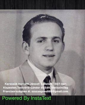 HORVÁTH JÁNOS sz. 1937-ben