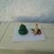 mini karácsonyfa és mini gyertya 3D-s