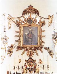 VÉRTESSOMLÓ Sarlós Boldogasszony templom kegykep