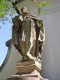 MAJKI KOLOSOR Szent Romuald homokkő szobra