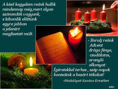 Advent  drága fénye