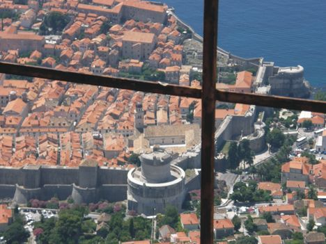 Dubrovnik a felvonóból