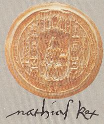 Mátyás királyunk pecsétje és aláírása