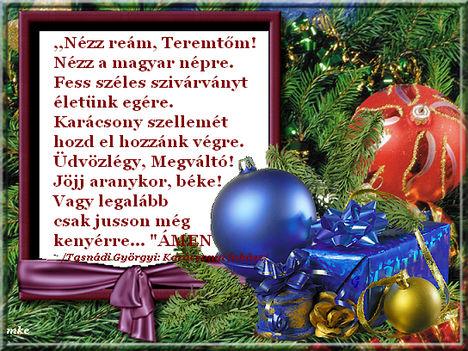 Karácsonyi  fohász