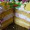 Ünnepi torta szeletelve