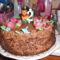 Domcsikám 2. szülinapjára készült csokitortája