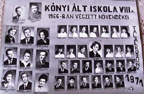 Kónyi iskola 1966-ban végzett diákjai /VIII.a. osztály/