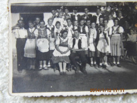 Bakónaki színjátszók régen