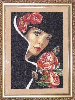 Hölgy rózsával