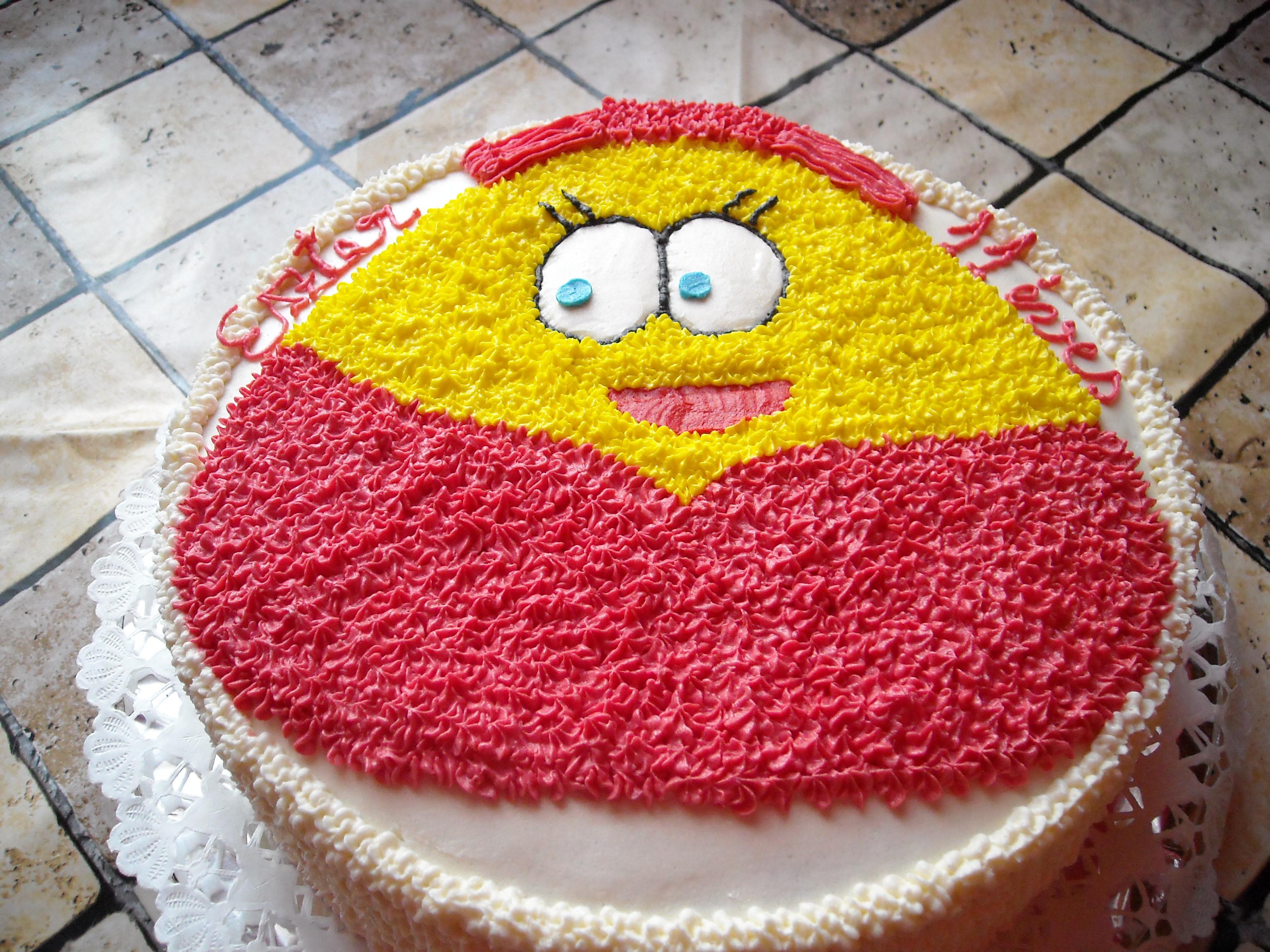 Recept: Szülinapra Pou torta (kép)