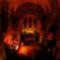 Templom a karácsonyfák fényében