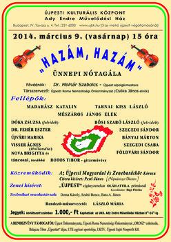 Tovább szólnak magyar dalaink  2014-ben is az Újpesti Ady E Művházban