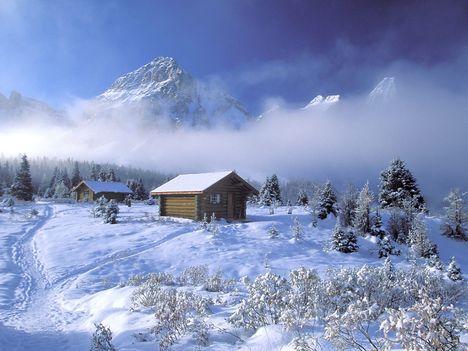 Téli menedék a hegyekben