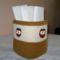 Bagoly -fejecskékkel díszített - deszt. vizes palackból készült tároló