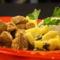 Pulykamell curryvel gyömbéres mangóval és zöldborssal