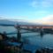 lemenő nap a Dunaparton