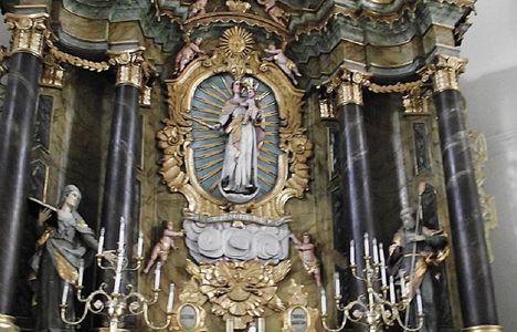 Gyergyószentmiklósi római katolikus templom FŐOLTÁR