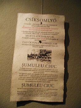 GyergyószentmiklósTarisznyás Márton Múzeum5