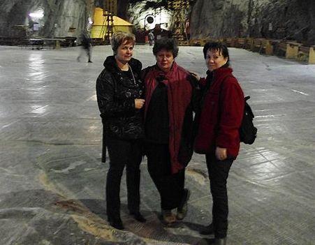 Parajd sóbánya Arankával és Évikével