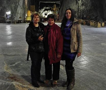 Parajd sóbányaArankával és Angélával