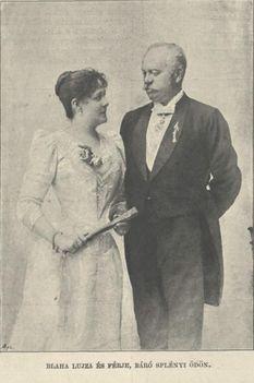 Blaha Lujza és férje